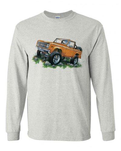 Fair Game Ford Long Sleeve T-Shirt Classic Ford Orange Bronco-Ash-Small