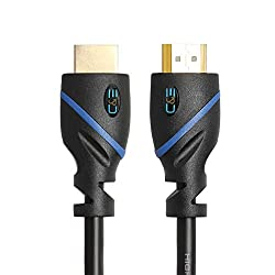 C&E High Speed HDMI Cable with Ethernet - Supports 3D and Audio Return [Latest Version], 15 Feet, 1-Pack