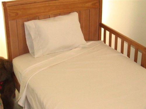 Imagen de Hoja Toddler Bed Set 100% algodón Color: Marfil