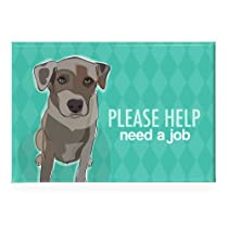 Catahoula Leopard Dog - Please Help Need a Job - Pop Doggie Refrigerator Magnets with Funny Sayings, Catahoula Gifts