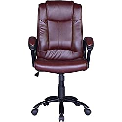 Brown Ergonomic Leather Office Executive Chair Computer Hydraulic O2824R by BestOffice
