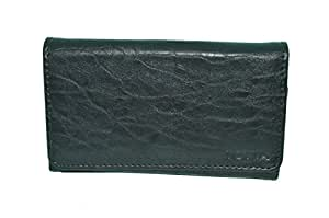 TOTTA PU Leather Wallet Pouch For Intex Aqua Life 2- BLACK