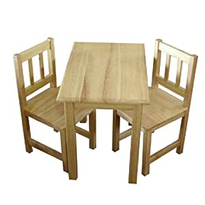 wooden table 2 chairs for children toys games. Black Bedroom Furniture Sets. Home Design Ideas