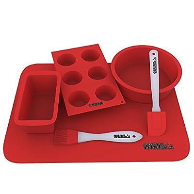 Silicone Baking Mat, Muffin Cups, Baking Molds, Cake Pan, Baking Pan - Bakeware Set
