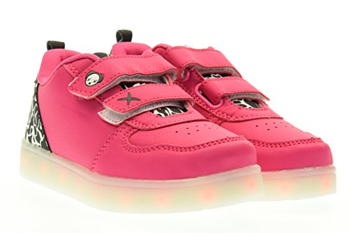 WIZE & OPE junior sneakers basse con strappo PINK CAM BW 28 Rosa