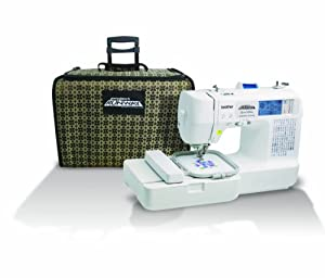 Brother LB6800PRW Project Runway Computerized Embroidery Sewing Machine with Included Rolling Carrying Case