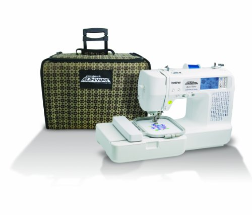 Brother LB6800PRW Project Runway Computerized Embroidery and Sewing Machine with Included Rolling Carrying Case (Monogramming And Sewing Machine compare prices)