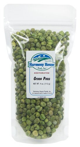 Harmony House Foods Dried Peas, Whole (4 Oz, Zip Pouch) For Cooking, Camping, Emergency Supply, And More