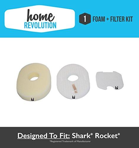 Shark HV300 Rocket XFFV300 1080FTV320 Comparable Foam and Felt Filter, Home Revolution Brand Replacement Fits Rocket HV300, Rocket - Deluxe HV310, DeluxePro, True Pet HV320 Series (Shark Rocket Hv300 Attachments compare prices)