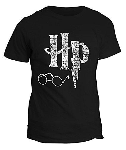 T-shirt Harry Potter - maghetto magia incantesimi bacchetta occhiali calice pietra simbolo tutte le taglie uomo donna bimbo