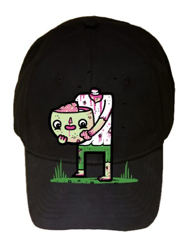 """Self Sufficient"" Zombie Eating His Own Brain - 100% Cotton Adjustable Cap Hat"