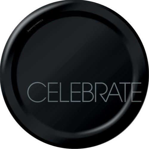 Creative Converting Classic Celebrations Round Dessert Plates, 8-Count, Celebrate - 1