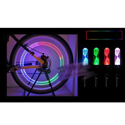 HUAYANG LED Blitzlicht Farben, die Fahrrad Auto Reifen Reifen Ventil Fireflys (2 Stk.)