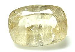 LOOSE 100% NATURAL & CERTIFIED 7.48 ct. YELLOW SAPPHIRE BIRTHSTONE BY ARIHANT GEMS & JEWELS