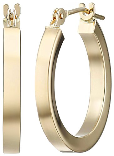 14k-Yellow-Gold-Square-Tube-Hoop-Earrings