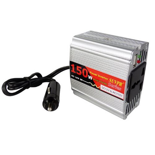 150W Car Power Inverter with 5V USB Output, 12V DC to 110V AC Car Power Inverter Adapter for 150W Electric Equipments Laptop Mobile Phone Printer Fax Machine Electronic Game Machine Video Recorder DVD player Digital Camera