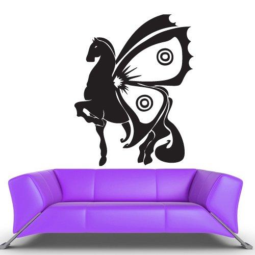 Wall Vinyl Sticker Decals Decor Art Bedroom Design Mural Horse With Wings (Z480) front-982914