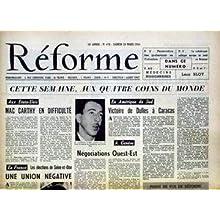 REFORME [No 470] du 20/03/1954 - AUX QUATRE COINS DU MONDE - ETATS-UNIS - MAC CARTHY - AMERIQUE DU SUD - VICTOIRE...