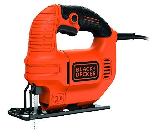 Black-Decker-400W-Kompakt-Stichsge-Spne-Blasfunktion-ergonomisches-Design-Feststellschalter-KS501