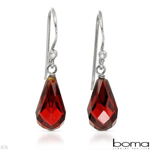BOMA Nice Earrings With Genuine Crystals Beautifully Crafted in 925 Sterling silver Length 23mm