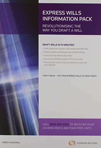 Express Wills: Digital Drafting Software Version 10 (Sweet & Maxwell Connections)