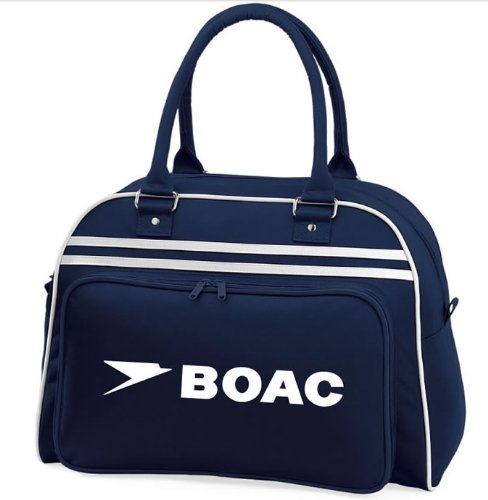 Retro Styling BOAC Flight Shoulder Overnight Bag. Hand-held or over shoulder.