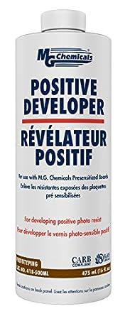 MG Chemicals 418 Positive Developer Liquid, 475 ml Bottle.