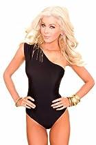 Sheridyn Swim - One Shoulder One Piece swimsuit - Medium - Black