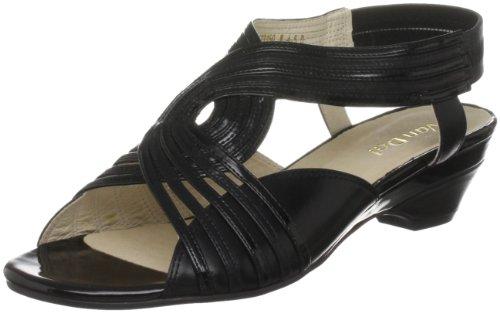 Van Dal Women's Sarawak Leather Black/Pat Slingbacks