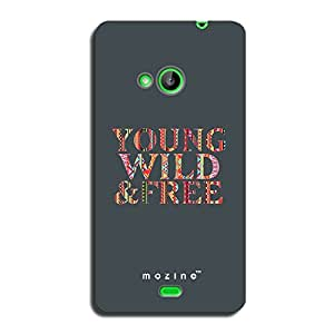 Mozine Young Wild Free printed mobile back cover for Nokia lumia 540