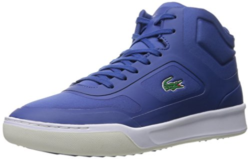 Lacoste Men's Explorateur Mid Spt 416 1 Spm Fashion Sneaker, Dark Blue, 8.5 M US