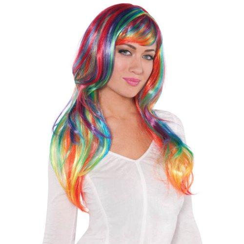Rainbow Glamorous Wig