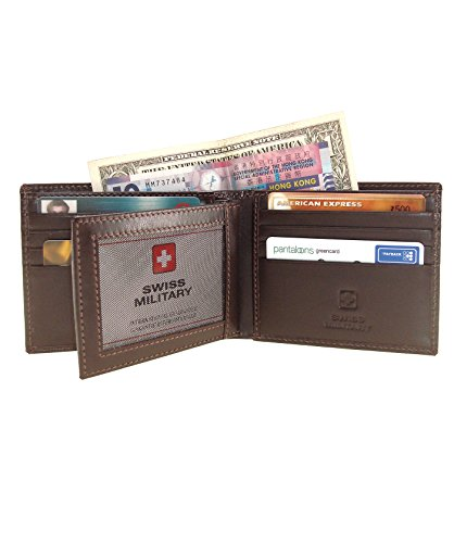 Swiss Military Genuine Leather Mens Wallet LW-19