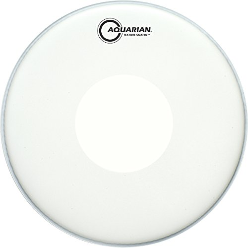 Aquarian Drumheads Tcpd14 Texture Coated 14-Inch Snare Drum Head, With Dot