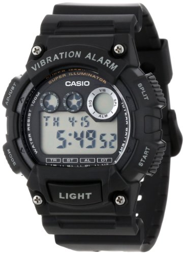 Casio Men's W735H-1AVCF Super Illuminator Black Watch