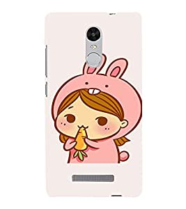 EPICCASE Girl As cute Rabbit Mobile Back Case Cover For Xiaomi Redmi Note 3 (Designer Case)
