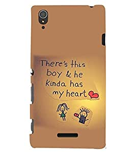 PRINTSWAG LOVE QUOTE Designer Back Cover Case for SONY XPERIA T3