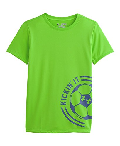 Under Armour Girls' Ua Kickin' It T-Shirt Youth Large Gecko Green back-664310