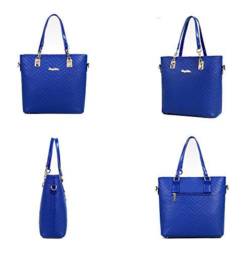 designer bag clearance zbzx  LaLagen-6PCS-Embossed-Bags-Set-Tote-Messenger-Clearance-