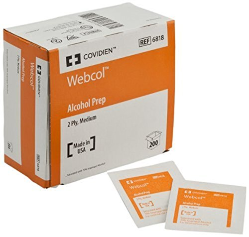 Kendall Healthcare Webcoltm Alcohol Preps Wipe, Medium, 2 Ply, 1'S - Box Of 200 Wipes front-688404
