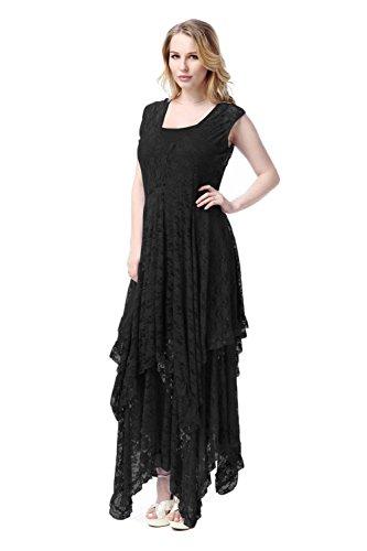 Coway Womens Beach Plus Size Dresses Black Size 3XL (Cheap Fancy Dress Plus Size)