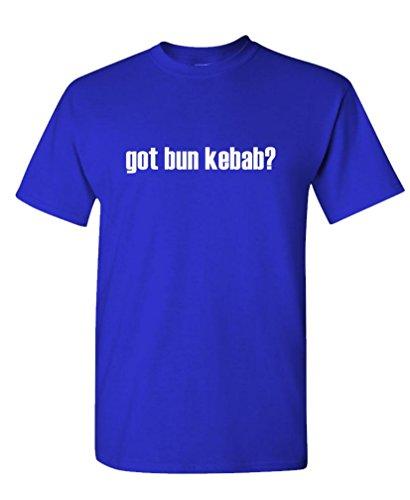 Got Bun Kebab? - Mens Cotton T-Shirt, L, Royal