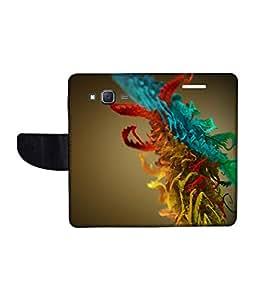 KolorEdge Printed Flip Cover For Samsung Galaxy On5 Multicolor - (1478-50KeMLogo10877SamOn5)