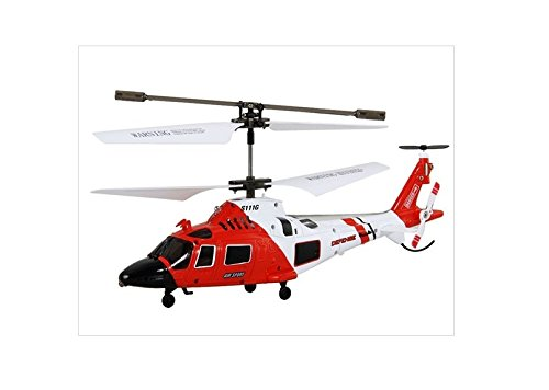 Syma S111G 3-Channel Infrared Rc Helicopter With Gyroscope (Red)