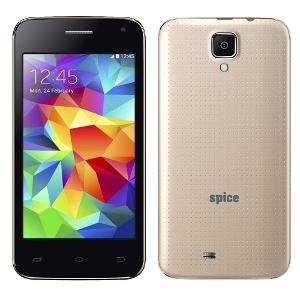 Spice 4 Inch (10.16 cm) Dual Sim Android Phone- mi 401 Golden