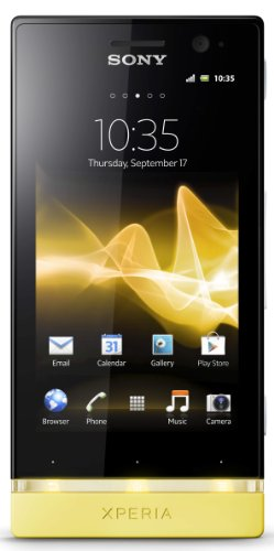 Sony Xperia U ST25A-WY Unlocked Phone with Android 2.3 OS and 3.5-Inch Touchscreen--U.S. Warranty (White/Yellow)