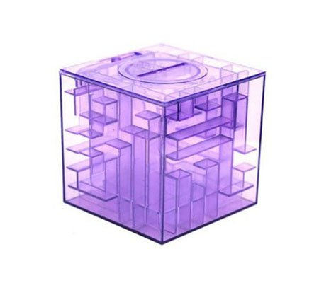 Purple Maze coin bank money box educational toy