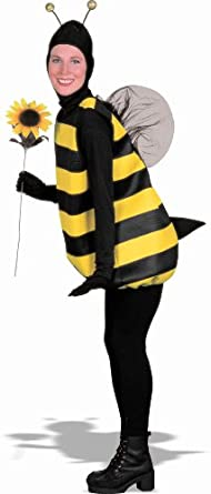 Women's Bumble Bee Costume, Black/Yellow, Standard (Fits up to Size 42 Chest)
