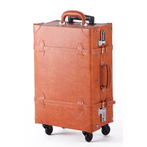 【MOIERG】キャリーバッグ キャリーケース スーツケース 4輪 軽量 かわいい (M, キャメル)[81-55009-72]