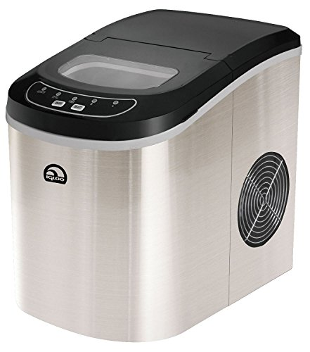Igloo Countertop Compact 26 lb. Portable Freestanding Ice Maker, Stainless Steel (Certified Refurbished)